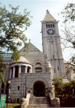 Photo of Carnegie Free Library of Allegheny in Allegheny  Square, Pittsburgh, America's First Publicly-Funded Carnegie Library.